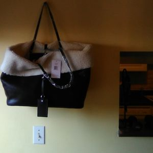 Steve Madden oversized bag with Sherpa lining